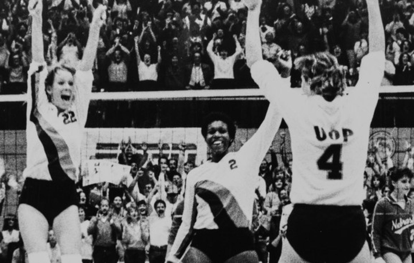 All-American Elaina Oden, center, helped lead Pacific to the 1985 and 1986 NCAA volleyball championships.