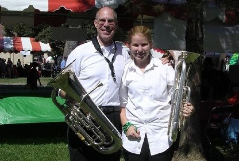 Eric Hammer with Bette Stover of the Valley Concert Band.