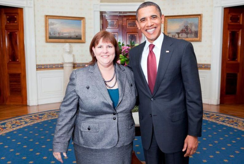 Lisa Vickers and President Obama