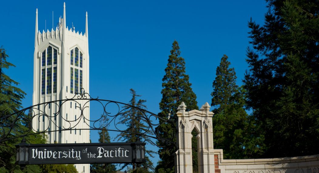 University of the Pacific's front gate