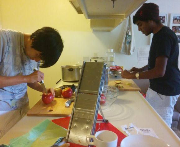 students in the kitchen co-op
